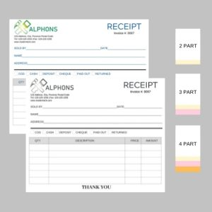 8.5″ x 7″ Business Forms